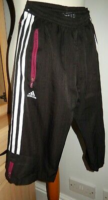 Girls Black/Multi  Adidas F5O Shorts/Cropped Trousers Age 9/10 Years