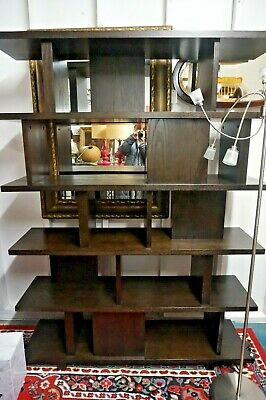 Mid Century Modern Style Wall Unit Bookcase