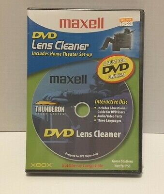 Maxell DVD Lens Cleaner (Brand New Sealed) Free Shipping
