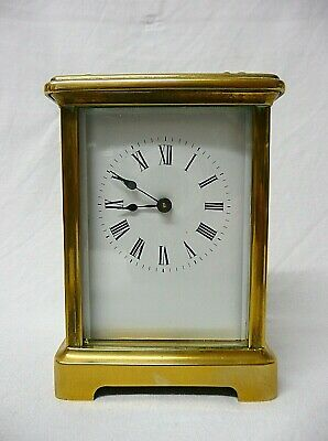 Antique French Brass Carriage Clock.