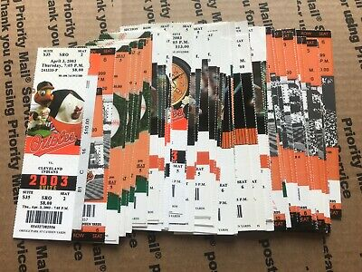 Orioles Unused Full Box Office Season Ticket Stub Lot of 65 No Book Booklet HUGE