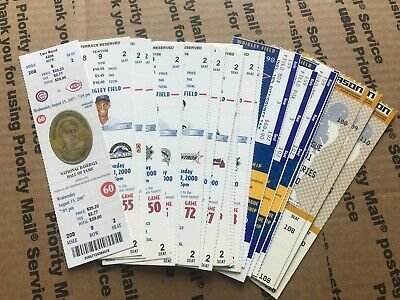 Cubs Full Unused Box Office Season Ticket Stub Lot of 24 No Book Booklet Wrigley