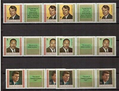 Guinea 1968 Mint Nh Set # 519/21+C107/09 Martyrs For Freedom (English) !! E20