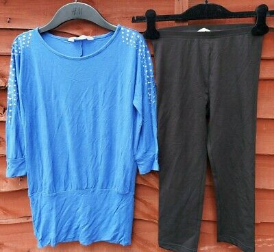 H&M girls' top and legging sets age 10-12 years