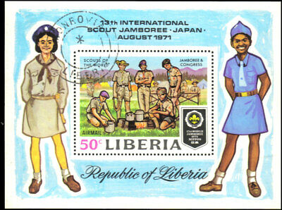 Liberia #C188 Used VF souvenir sheet