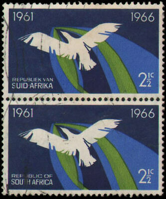 South Africa #311 Used vertical pair