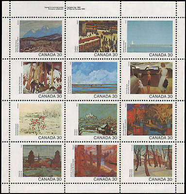 Canada #955-966 MNH mini sheet of 12