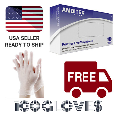 Vinyl Powdered Free Multi-Purpose Gloves, Small, Clear Latex Free - 100 Per Box