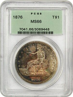 1876 Trade$ PCGS MS66 (OGH) Beautiful Gem - US Trade Dollar - Beautiful Gem