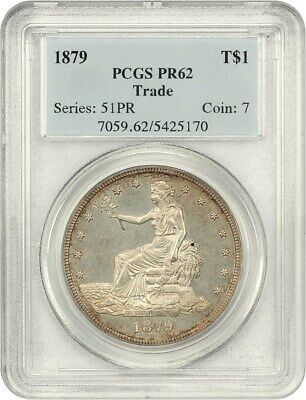 1879 Trade$ PCGS PR 62 - Desirable Proof Trade Dollar - US Trade Dollar
