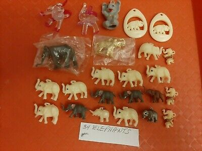 Vintage Gumball/Vending Elephant Charms/Toys Lot Of 24