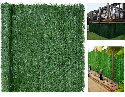 Artificial Hedge Roll Screening Conifer Outdoor Garden Privacy Screens Fences