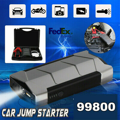 12V Emergency Battery Power Multi-Function Car Jump Starter Charge Lights Power