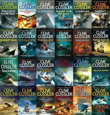 Clive Cussler, Dirk Cussler by Dirk Pitt (1-25)   Audiobooks📧eMail delivery📧