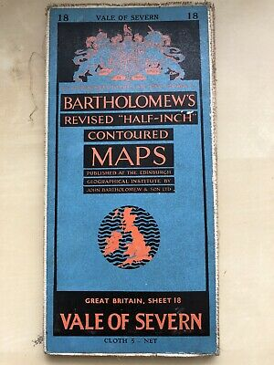 Bartholomew Vintage Map Vale Of Severn