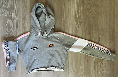 Ellesse Grey Cropped Hoodie - Womens/Girls - UK Size 6 - Very Good Condition