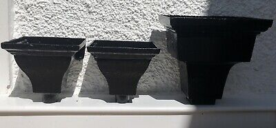 Three Architectural Salvage Antique Victorian Cast Iron Rain Hoppers.