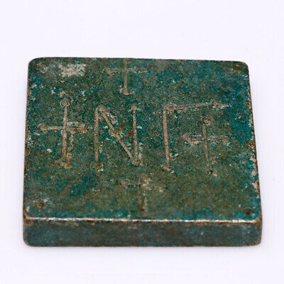 ANCIENT BYZANTINE BRONZE SQUARE WEIGHT CIRCA 500-700 AD-38.38gr
