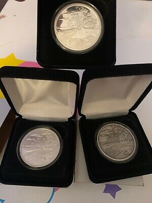3 X 1 Oz .999 In Silver We Trust Coin Set
