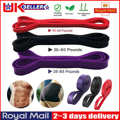 Heavy Duty Pull Up Resistance Assisted Bands Set Exercise Loop Gym Fitness Bands