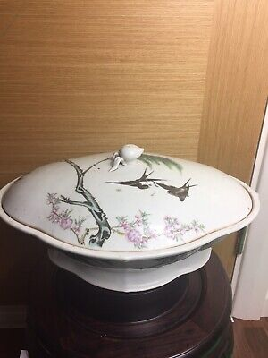 Large Chinese Famille Rose Bowl And Cover