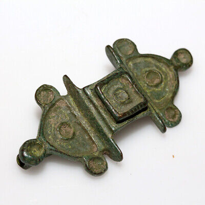 Ancient Roman Bronze Fibula Brooch Circa 200-300 Ad