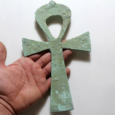 Ancient Or Medieval Bronze Egyptian Ornament Pendant-Huge Size-Unclean