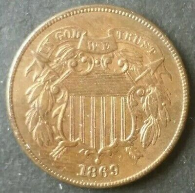 1869 2c Two-Cent Piece