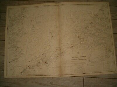 Vintage Admiralty Chart 1406 SOUTHERN NORTH SEA 1926 edn