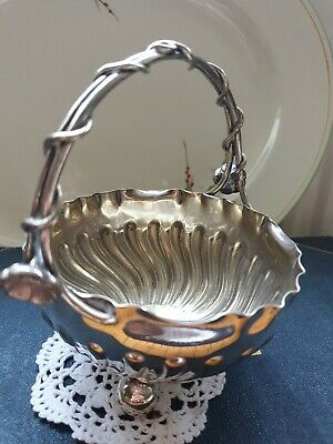 Silver Plated Sugar Bowl sweets EPNS Silverware, Marked JR&S warranted soldered