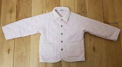 United Colors Of Benetton Pink Girls Quilted Jacket Size 24 Months 2 Years