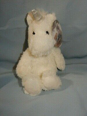 """Cuddly Friends White Unicorn 8"""" Floppy Plush With Tags"""