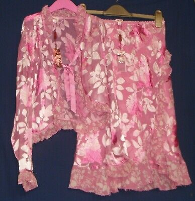 Monsoon Stunning 2 Piece Outfit Pink Age 8-10 Years New With Tags