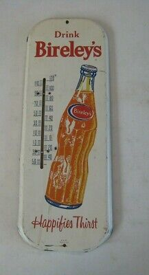 1959 Drink Bireley's Orange Soda Happifies Thirst Advertising Thermometer