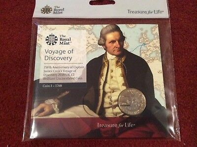 2018 Captain James Cook's Voyage Of Discovery 250Th Ann. £2 Bu Coin Pack