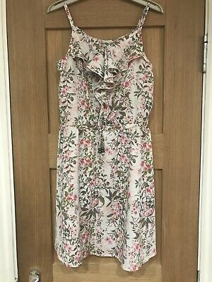 Next Girls Pink Floral Summer Dress Age 10 Years