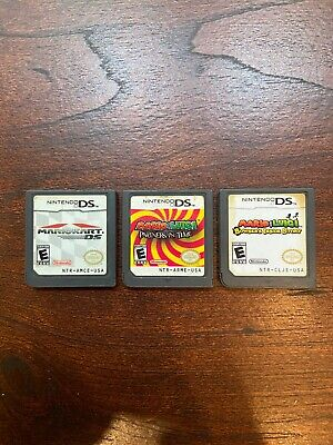 Mario Kart/Bowsers Inside Story/Partners in Time Authentic Game Bundle Lot Cart