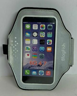 Blog Fish Silver/White Armband Exercise/Running Case Cover For Iphone 6