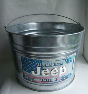 Jeep Dealership Advertising All American Freedon Galvanized Large Pail