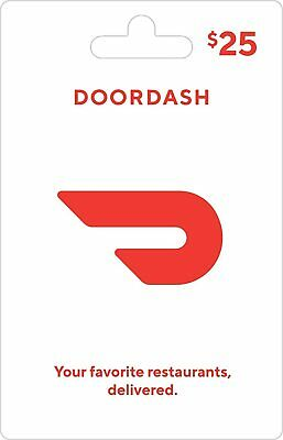 DoorDash Gift Card - $25 (Read Description) Fast Delivery!