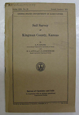 Folded Color Soil Survey Map Kingman County, Kansas Cunningham Nashville Norwich