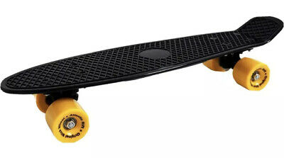 """Unique Blacked Out Penny Board With Yellow Wheels Smooth Glide 22"""""""