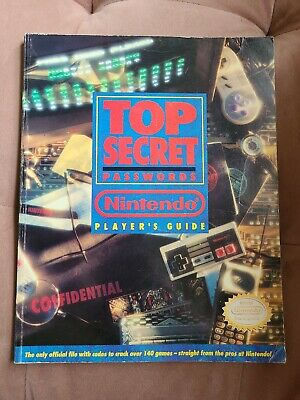 Top Secret Player's Guide Book Strategy Nintendo Great Condition Nes