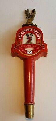 "Alexander Keith's Red Amber Ale Beer Tap Bar  11"" high nice shape"