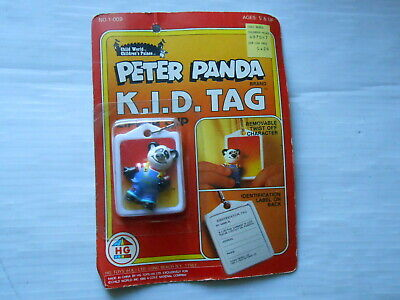 PETER PANDA KID ID Tag Childworld Childrens Palace 1985 New old stock