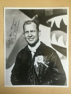 JOHN ALISON WWII ACE 23rd Fighter Group SIGNED 8X10 PHOTO 6  KILLS