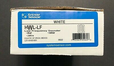 (2) TWO SYSTEM SENSOR Low Frequency Sounders WHITE Indoor 2-Wire HWL-LF **NEW**