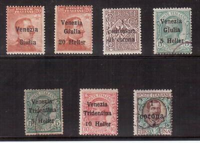 Austria 1918 Occupation Stamps Issued Under Italian Occupation !!  E65