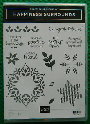 Retired Stampin' Up! Happiness Surrounds stamp set
