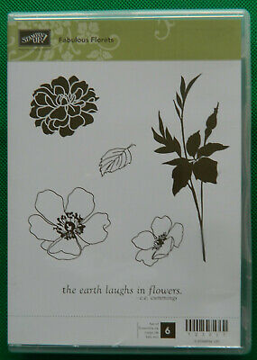 Retired Stampin' Up! Fabulous Florets stamp set